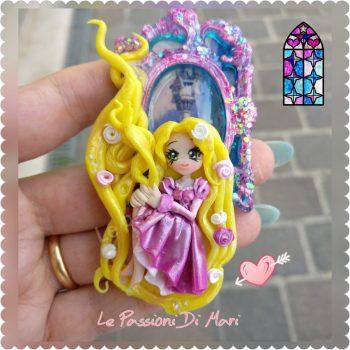 Rapunzel Cameo Handmade Polymer Clay OOAK