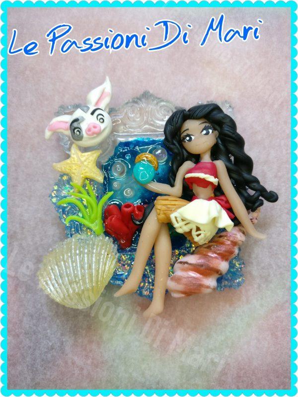 Moana Cameo Disney OOAK Polymer clay