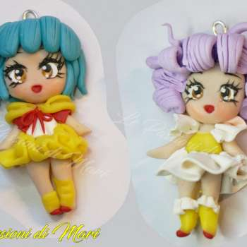 Creamy Mami and Yuu Morisawa Chibi pendant Polymer clay
