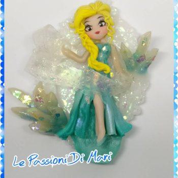 Frame of Elsa Frozen Disney Polymer Clay handmade OOAK