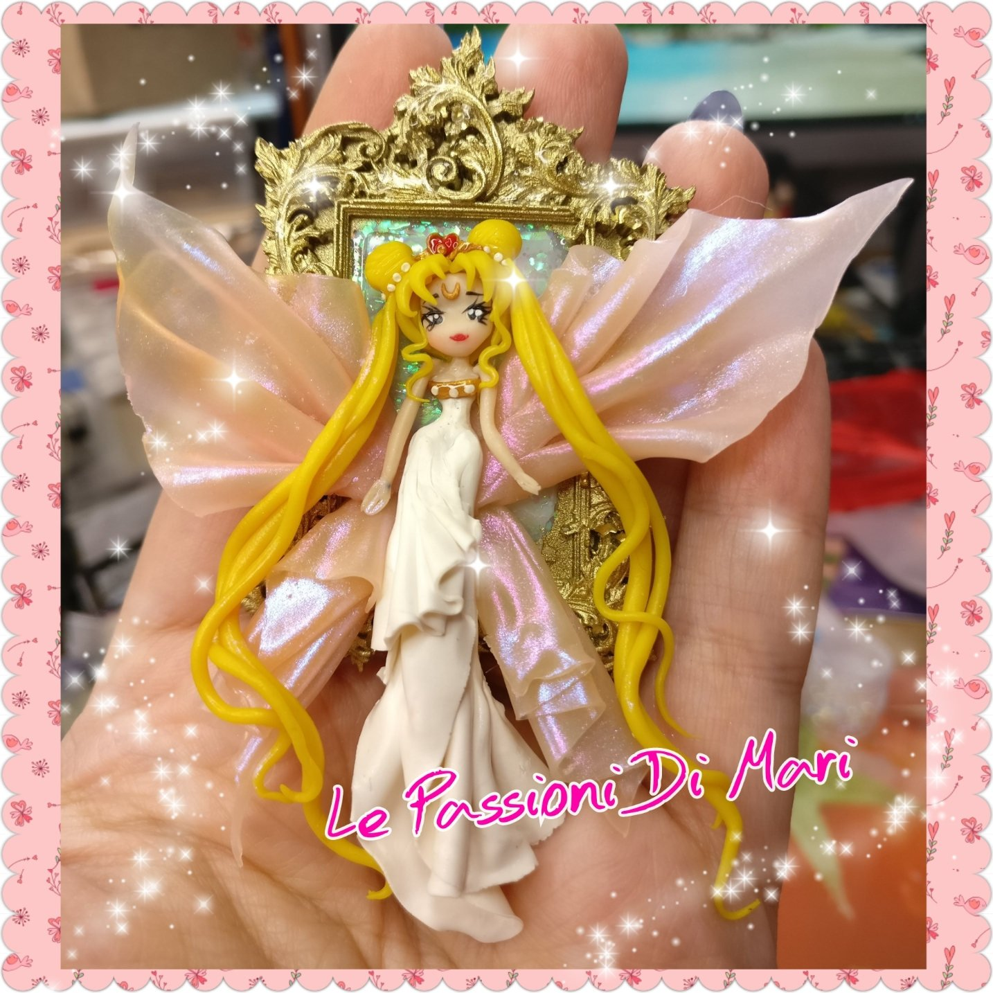 Queen Serenity Frame Handmade Polymer Clay