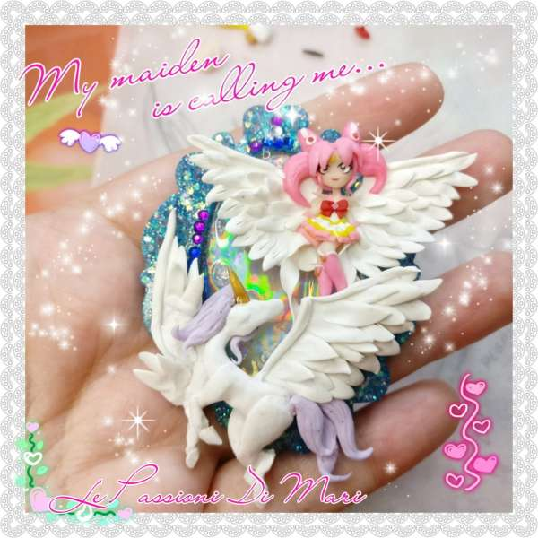 Cameo Pegasus Helios and Sailorchibimoon polymerclay handmade