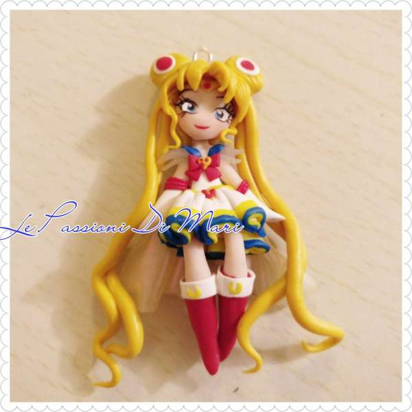 Super Sailor Moon Pendant/Necklace handmade polymer clay MADE TO ORDER