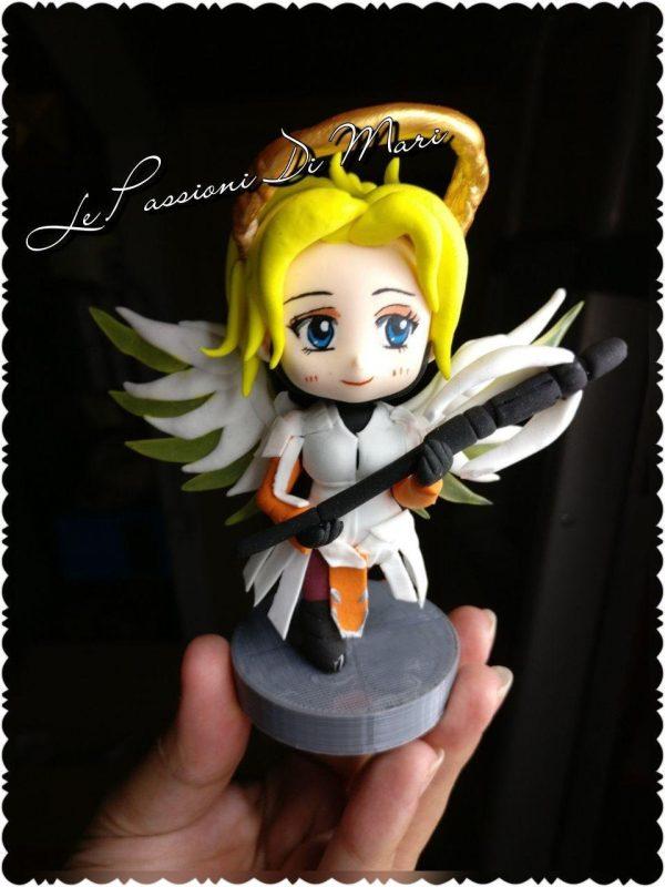 Mercy Figure Overwatch handmade airdryclay