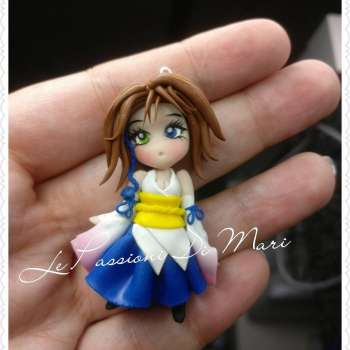Yuna Final Fantasy X Pendant/Necklace Chibi version handmade on order