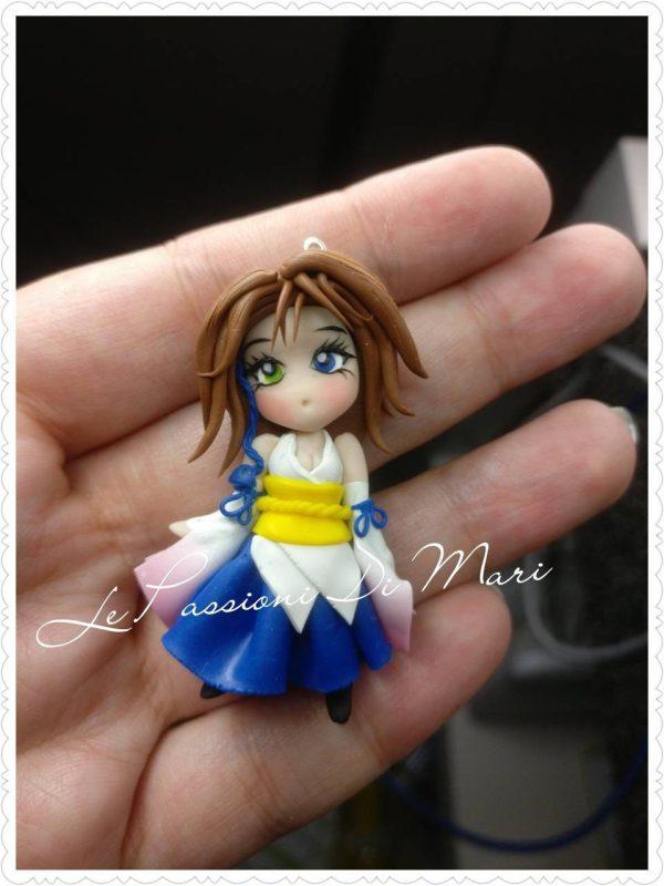 Yuna Final Fantasy X Pendant/Necklace Chibi version handmade on order