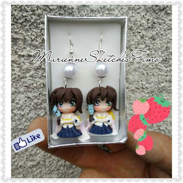 Yuna Final Fantasy X Earrings Handmade ON ORDER