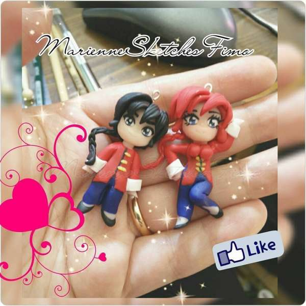 Handmade Polymer Clay Ranma 1/2 Pendant/Necklace on demand